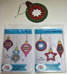 LACY NOEL and SPARKLE Applique on felt CHRISTMAS ORNAMENTS Sewing ...