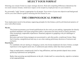 Stunning Define Chronological Resume Pictures Simple Resume