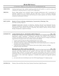 Resume For Marketing Position Sample Sidemcicek Com
