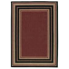 home depot outdoor rugs border chili red and beige 8 ft x indoor area rug 5x7