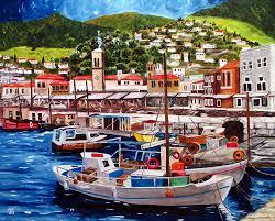 oil paintings of greece