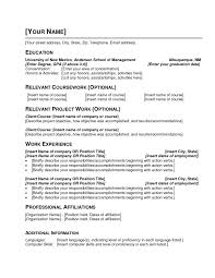 Template Resume Examples Unrivaled 10 Basic Simple Template Pdf