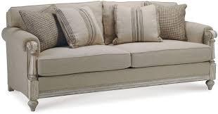 antique sofa with wood trim fabric rustic wood sofa