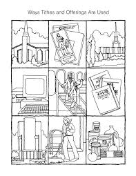 Small Picture Tithing coloring page Activity Days Pinterest Churches