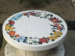diy mosaic table mosaic table white diy mosaic round table top diy mosaic