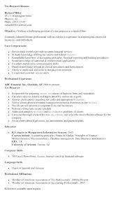 Great Sample Resume Resume Sample Resume For Tax Preparer Economiavanzada Com