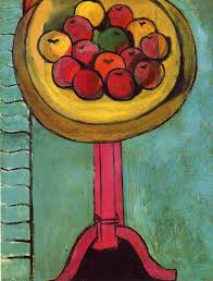Henri Matisse - Apples on a Table - Green Background, 1916 ...