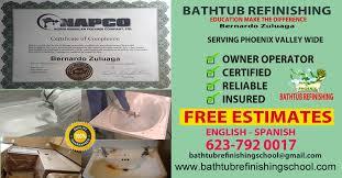 bathtub refinishing training
