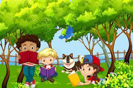 Niños internacionales niños leyendo en el parque 303027 - Descargar  Vectores Gratis, Illustrator Graficos, Plantillas Diseño