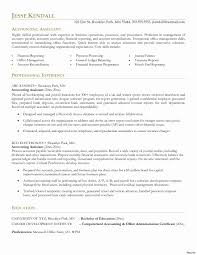 Accounting Journal Templates New Accounting Assistant Resume