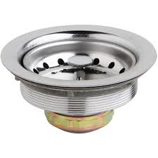 Elkay 35 In Kitchen Sink Drain With Removable Basket Strainer And