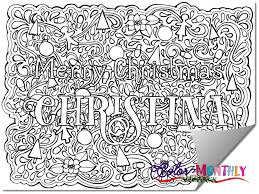 Small Picture Order Your Custom Name Christmas Coloring Page