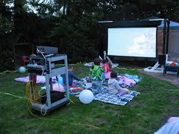The HTG Guide To Throwing A Backyard Movie Night  Entertaining Movie Backyard