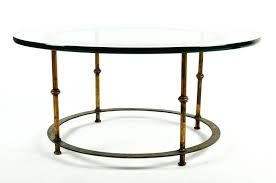 mid century round brass table with detachable heavy glass top the round table measure