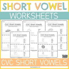 I have also designed some simple sentences using the cvc words which means after children. Short Vowel Cvc Word Worksheets Teach Beside Me