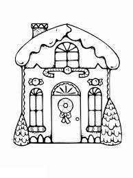 My Favorite Gingerbread House Coloring Page Netart