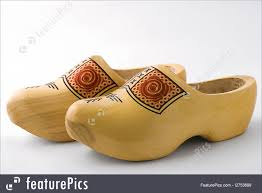 fashion accessories a pair of wooden dutch shoes
