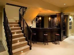 stair lighting ideas. Basement With Recessed Lights And Stair Lighting Ideas