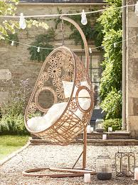 hanging chair garden furniture. gold floral outdoor hanging chair garden furniture n