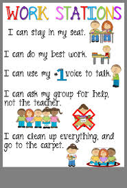 Simple Reference For Rules During Literacy Stations Centers