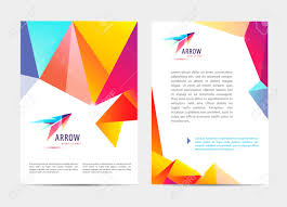 Vector Document Letter Or Logo Style Cover Brochure And
