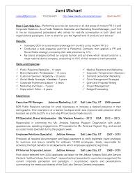 Public Relations Objective Resume Free Resume Example And
