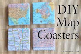 DIY Map Coasters by Country Chic Cottage | One of a HUGE collection of DIY  Drink