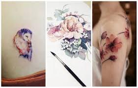 акварельные мини тату 20 крутых идей женский журнал лиза