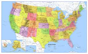 Large Us Map Poster 48x78 United States Classic Laminated Wall Map Poster