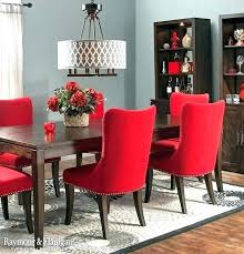 red dining room red dining chairs