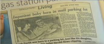 Frank Pavliks Newspaper Birth Announcement Growing Your Baby