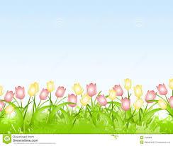 Free Spring Spring Tulips Flower Border Background Stock Image Image Of Floral
