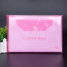 clear office. 2Pcs/Lot A4 Format File Holder Thicken Button Clear Bag Archives Office Stationery Student School Supplies-in Folder From \u0026