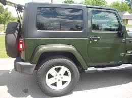 jeep wrangler sahara dark green great condition new tires low mileage hard top
