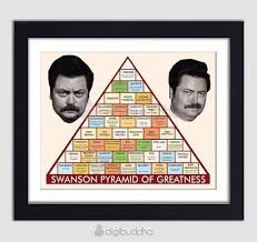 Ron Swanson Pyramid Of Greatness Pyramid Of Greatness Ron