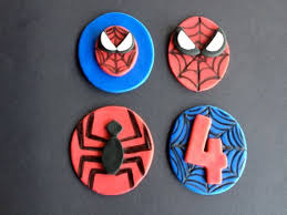 Spiderman Fondant Cupcake Toppers Set Of 12 1295 Via Etsy