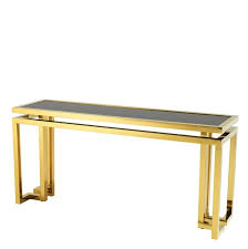 gold console table. Palmer Gold Console Table
