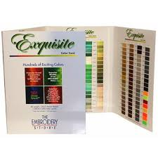 Exquisite Thread Color Chart Color Chart For Exquisite Polyester Thread 40 1000 Meters