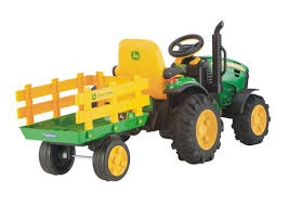peg perego john deere ground force ride on tractor with trailer walmart canada