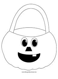 Cestino Zucca Di Halloween Disegni Da Colorare