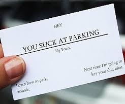 Business Parking Suck Cards At You