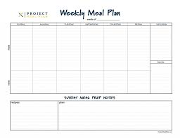 Free Printable Meal Plan Template Free Meal Planner Template Minimalist Pdf Templates To Save