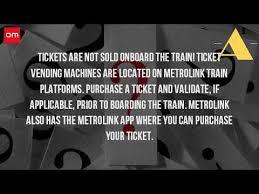 Metrolink Ticket Vending Machine Amazing Can You Buy A Metrolink Ticket Online YouTube
