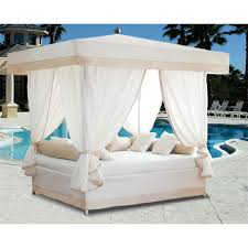 ... Mind Blowing Outdoor Beds With Canopy Design Exterior Ideas : Terrific  White Sheer Curtain In White ...