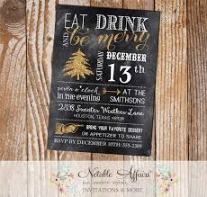 Christmas Holiday Invitations Gold Chalkboard Eat Drink And Be Merry Christmas Holiday Party Invitation