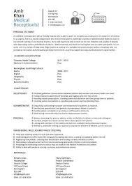 Medical Office Front Desk Resume Sample Medical Office Receptionist