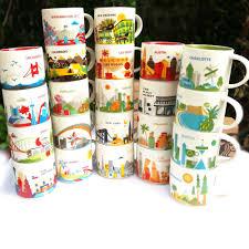 1 Pcs City Cup USA City Bone china Mug <b>Global Collection Ceramic</b> ...