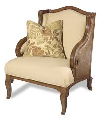 Hooker Furniture Windward Exposed Wood Wing Chair With Raffia Palm - Bobs furniture milford ct