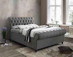 upholstered bed grey. Birlea Castello Side Ottoman Upholstered Bed Grey 2