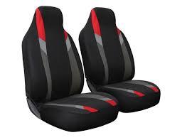 intergrated car seat cover 2pc black